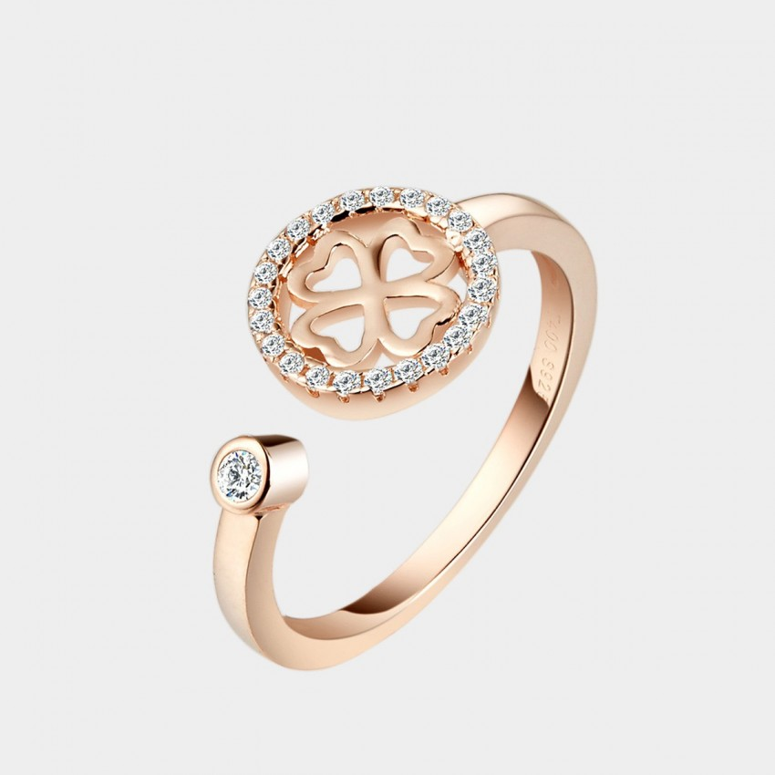 SEVENTY 6 The Honey Promise Rose Gold Ring (4383)