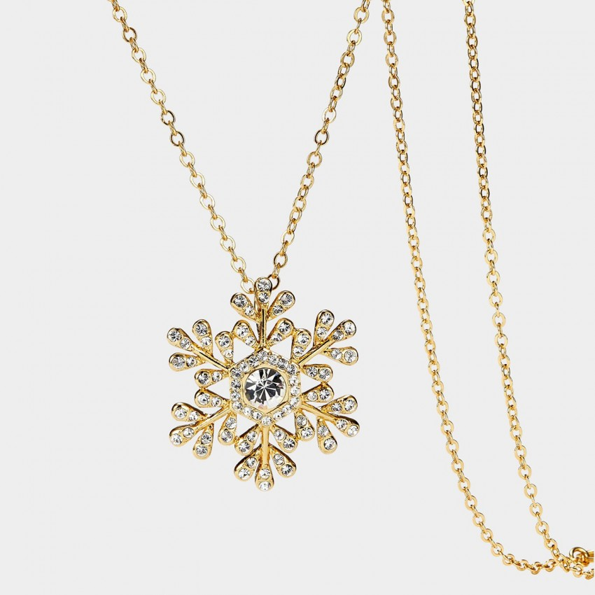 SEVENTY 6 Snowflake Gold Long Chain (7207)