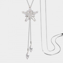 SEVENTY 6 Star In The Rain White Long Chain (7244)