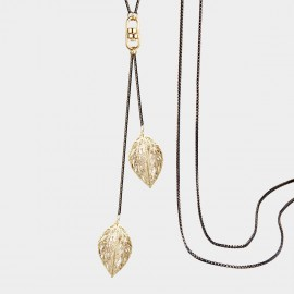 SEVENTY 6 Autumn Leaves Gold Long Chain (7247)