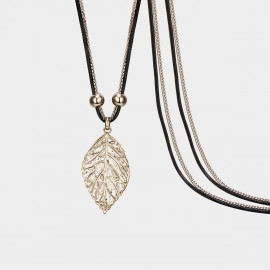 SEVENTY 6 A Morning Leaf Black Long Chain (7259)