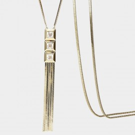 SEVENTY 6 Streamline Gold Long Chain (7996)
