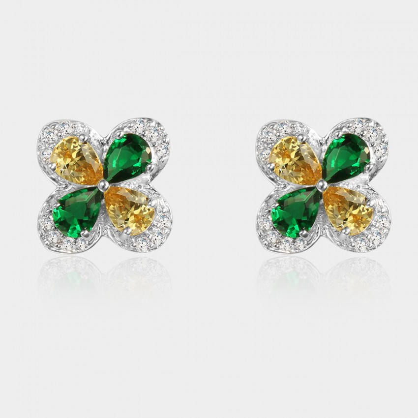 SEVENTY 6 Burning Wish Green Earrings (8225)