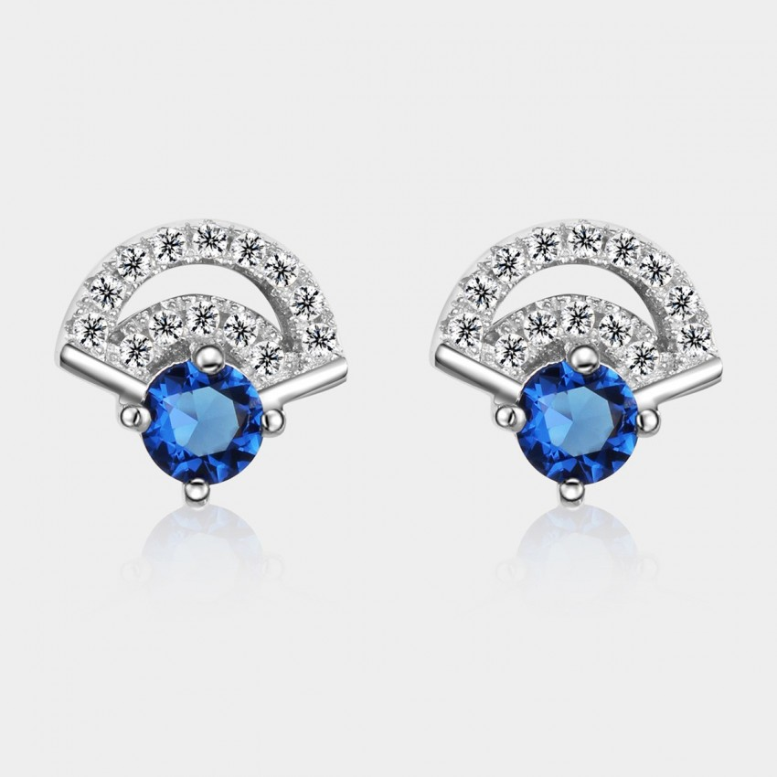 SEVENTY 6 Happy Occasion Blue Earrings (8263)