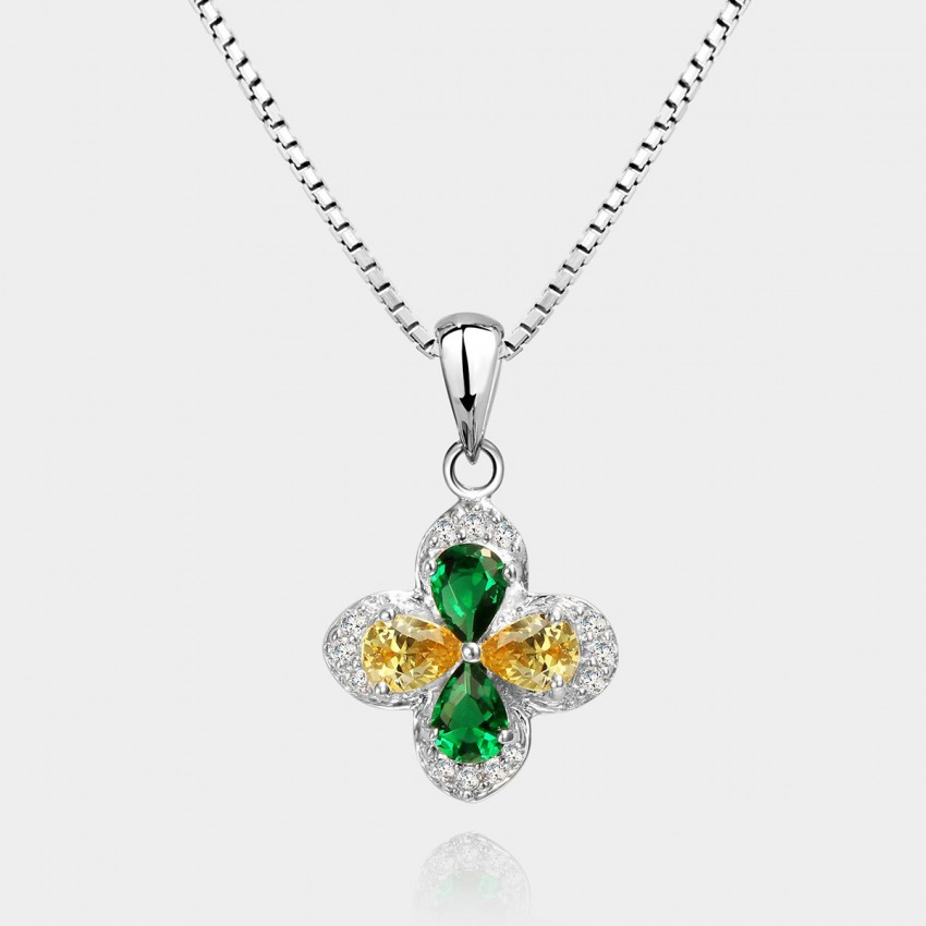 SEVENTY 6 Burning Wish Green Necklace (10542)