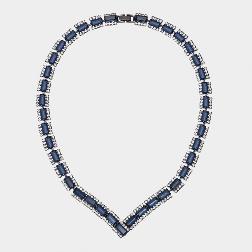 SEVENTY 6 Galaxy Fleet Navy Necklace (10778)