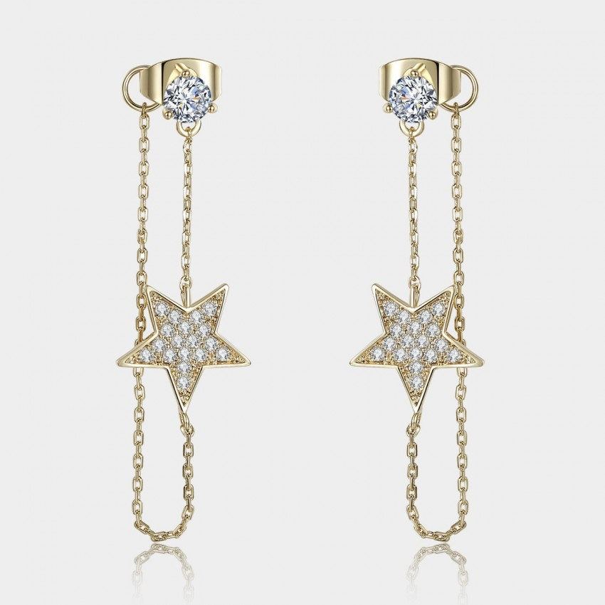 Caromay Bright Star Winding Champagne Earrings (E0798)
