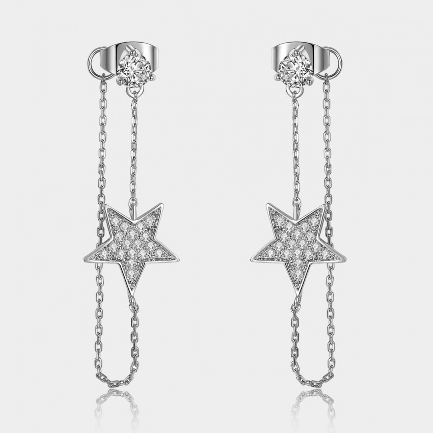 Caromay Bright Star Winding Silver Earrings (E0798)