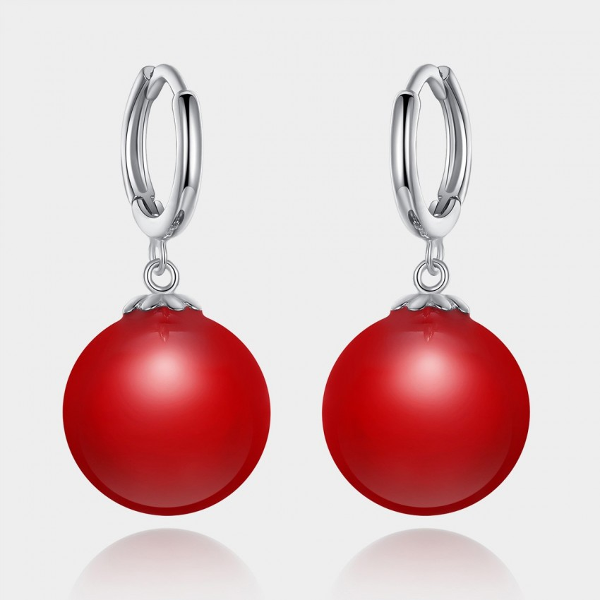 Caromay Full Begonia Red Earrings (E0973)