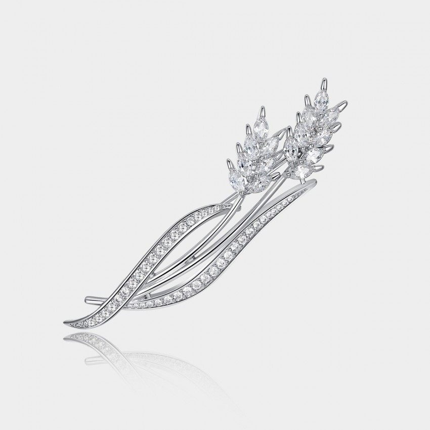 Caromay An Ear of Wheat Silver Brooch (T0134)