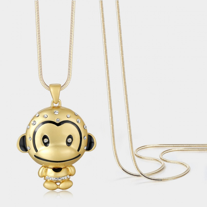 Caromay Baby Monkey Champagne Long Chain (X0643)