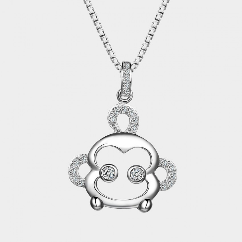 SEVENTY 6 Tarsier White Necklace (10929)