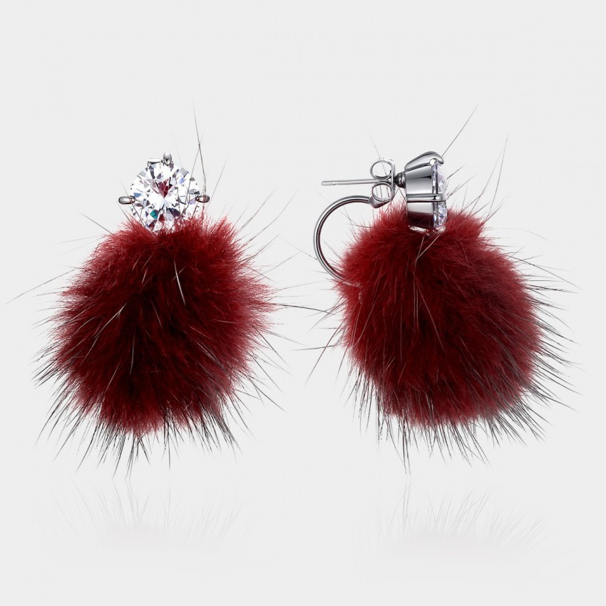 Caromay Wild Queen Red Earrings (E0987)