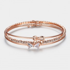 Caromay 3 In 1 Knots Rose Gold Bracelet (H0063)