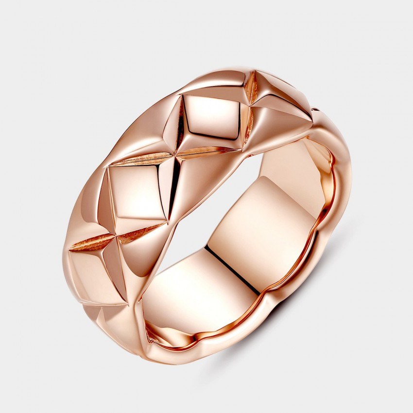 Caromay Heart Mark Rose Gold Ring (J0156)
