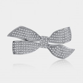 Caromay Gorgeous Bow Silver Brooch (T0203)
