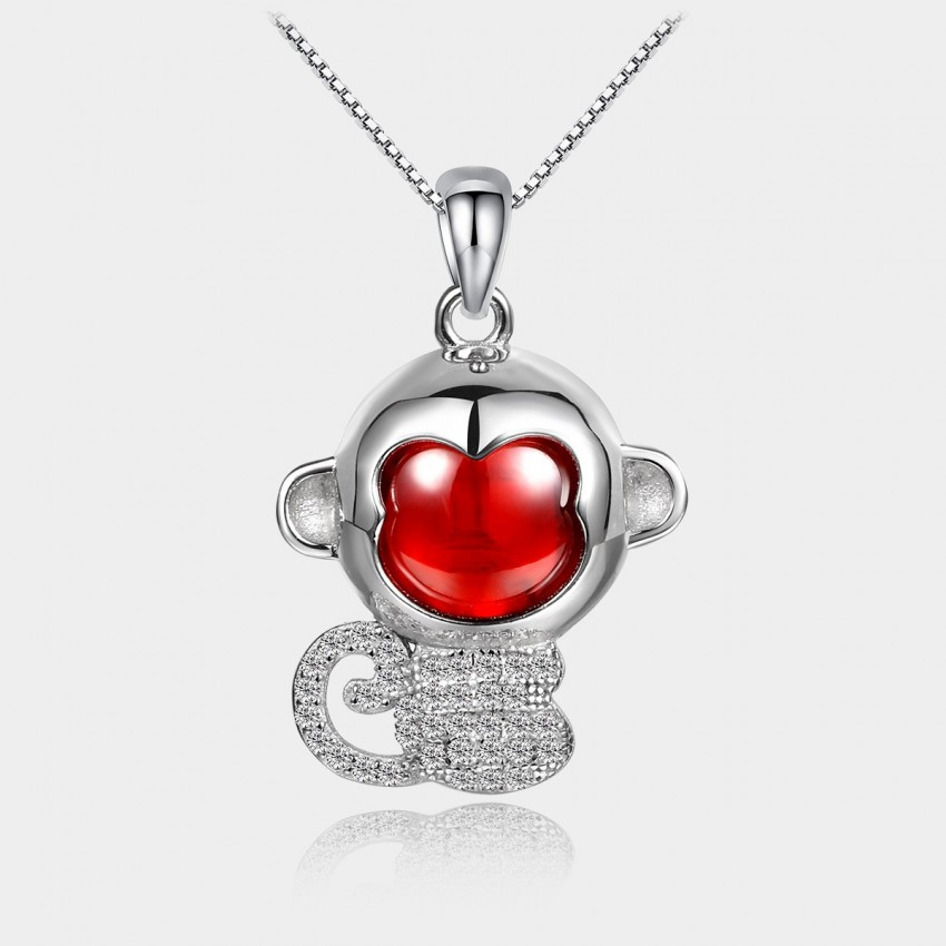 Caromay Cutie Monkey Red Necklace (X0704)