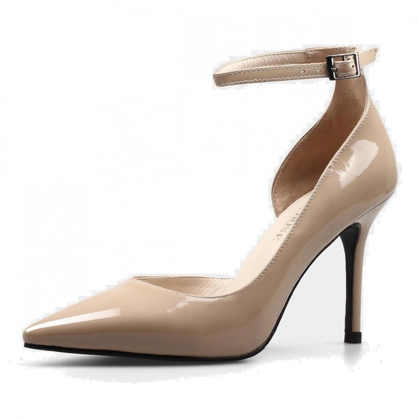 Nude pumps with ankle strap photos 75