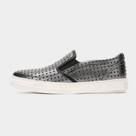 Herilios Metallica Dots Silver Loafers (H6105D19)