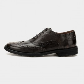 Herilios Vintage Soft Leather Hollow Out Oxford Brown Lace Up (H6105D22)
