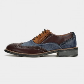 Herilios Multiple Palette Oxford Leather Blue Lace Up (H6105D34)