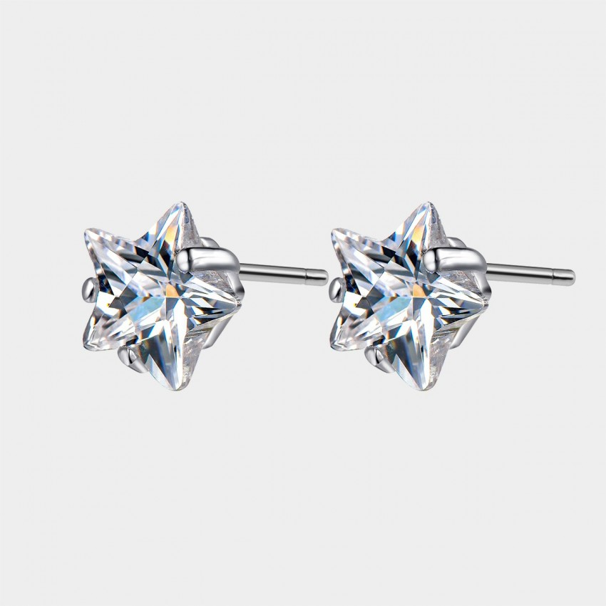 SEVENTY 6 Star Trail White Earrings (8469)