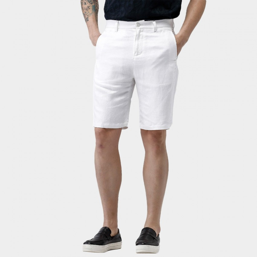 exclusive range how to find 2019 best sell Beverry Beach Boy Knee Length White Shorts (16CDC0017)