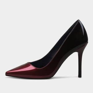 Weekend Bird Grand Touch Pointy Leather Red Pumps (631QC0211)
