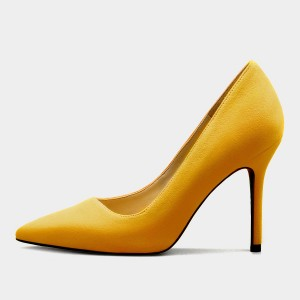 Weekend Bird The New Lady Leather Yellow Pumps (631SR0205)