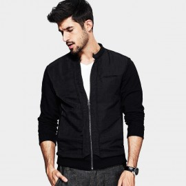 KUEGOU Zipper Jacket Black (MW-7025)