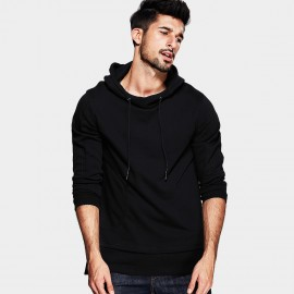 Kuegou Wide Neck Black Sweater (UW-3028)