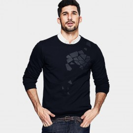 Kuegou Fragmented Black Sweater (UW-3038)