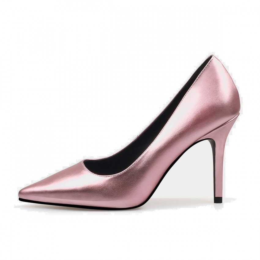 b2c406108359 Jady Rose Gloss Collection Leather Pink Pumps (16DR10062) - 0cm