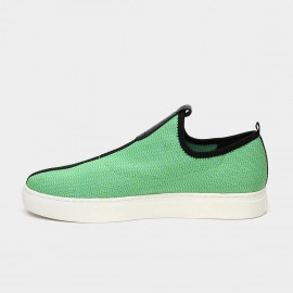 Jady Rose Mid Taping Leather Green Sneakers (16DR10080)