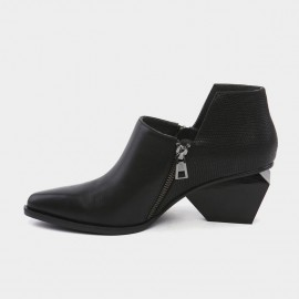 Jady Rose Wild Touch Leather Black Boots (16DR10107)