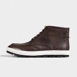 Herilios Vintage Texture Leather Coffee Boots (H6305G81)