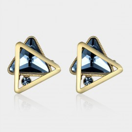 Caromay Moving Triangles Champagne Gold Earrings (E0982)
