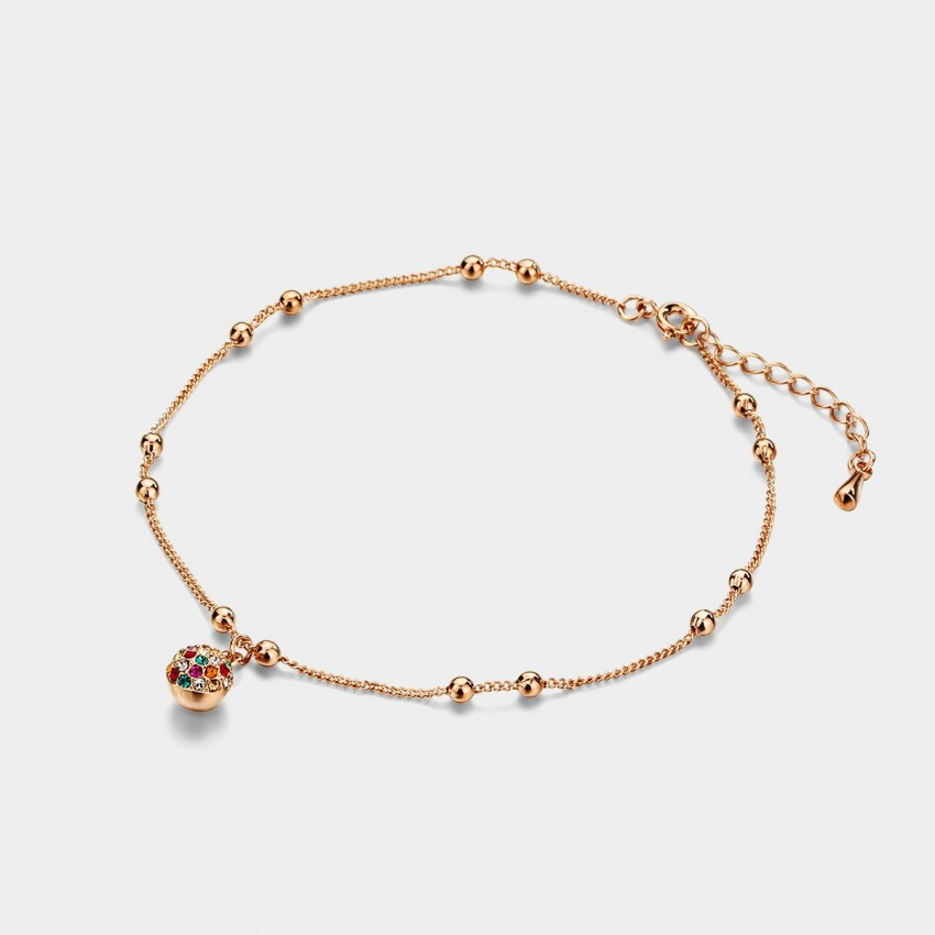 Caromay Color Ball Rainbow Anklet (H0066)