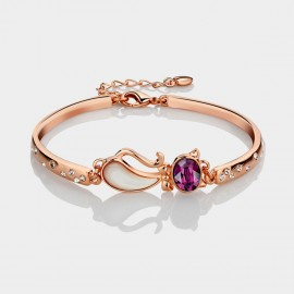 Caromay Quiet Kitty Purple Bracelet (S0509)