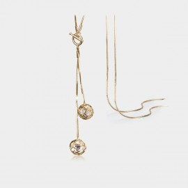 Caromay Translucence Champagne Gold Long Chain (X0719)