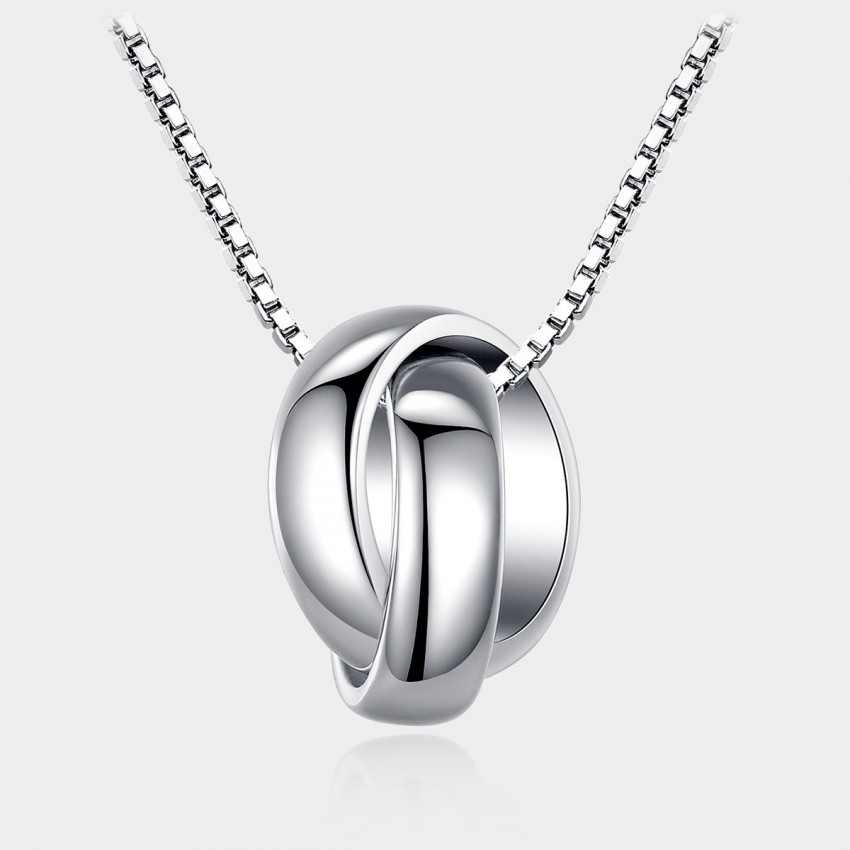 Caromay Tangle Silver Necklace (X0735)