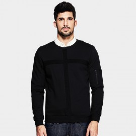 kuegou Cross Strap Black Sweater (UW-3019)