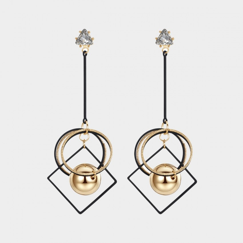 Caromay Imaginary Space Gold Earrings (E1494)