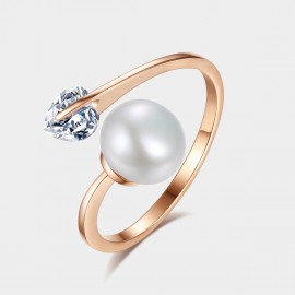 Caromay Perturbed Heart Rose Gold Ring (J0039)