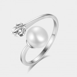 Caromay Perturbed Heart Silver Ring (J0039)