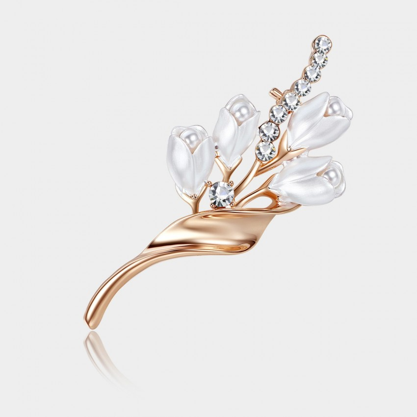 Caromay Noble Bloom Rose Gold Brooch (T0206)