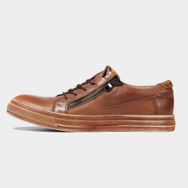 Herilios The Same Casual Leather Apricot Sneakers (H6105D62)