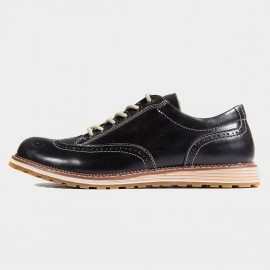 Herilios Blunt Wingtip Leather Black Lace-Up (H6305D68)