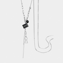 Seventy 6 Afternoon Sun Black Long Chain (7333)