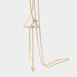 Seventy 6 Huddling Minds Gold Long Chain (7504)